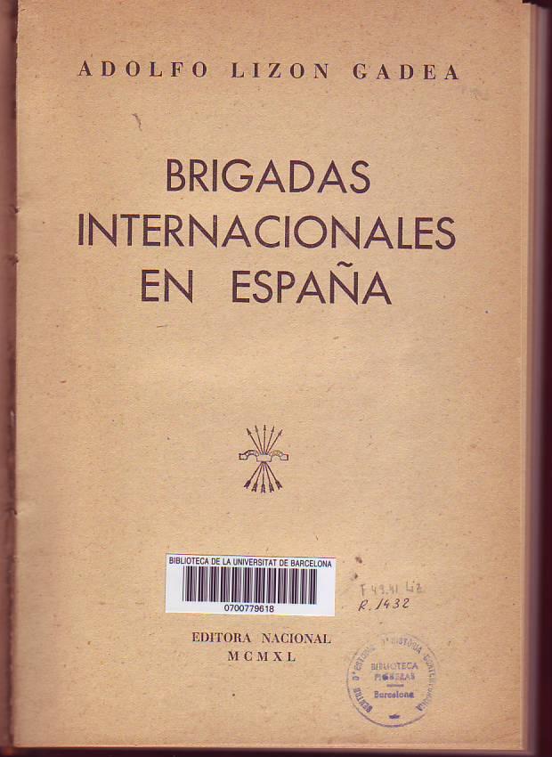 Brigadas Internacionales en España
