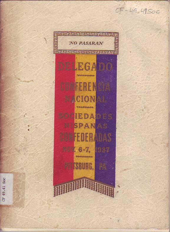 Memoria del Congreso Nacional celebrado durante los días 6 y 7 de noviembre de 1937 en la ciudad de Pittsburg