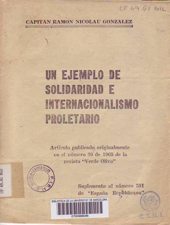 Un Ejemplo de solidaridad internacional e internacionalismo proletario