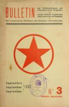 Bulletin des Commissaires politiques des Brigades Internationales